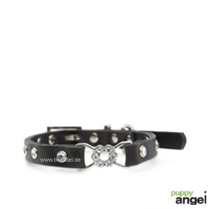 "Puppy Angel® ""Rose Pendant"" Hundehalsband (schwarz)"