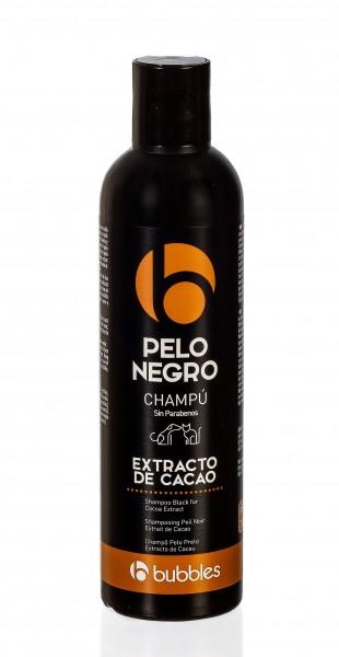 "Bubbles® Hundeshampoo ""Pelo negro"" mit Kakao-Extrakt für dunkles Fell"