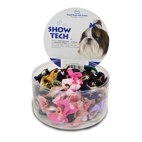 ShowTech® Farbige Haarschleifen mit Gummibändern (50 Stk.)