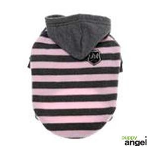 "Puppy Angel® Fleece-Hundejumper ""Bumble Bee"" (pink/grau)"