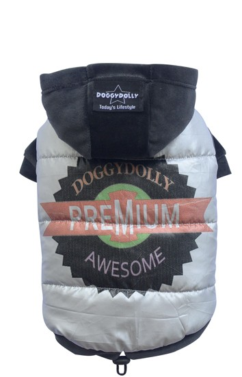 "DoggyDolly® Hundejacke ""Awesome"" (silbergrau)"