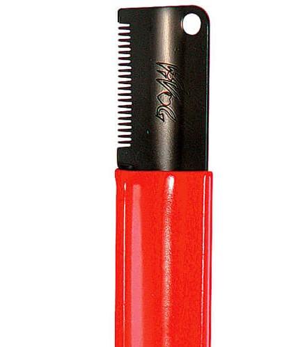 Vivog® Trimmmesser mit feiner Zahnung (rot)