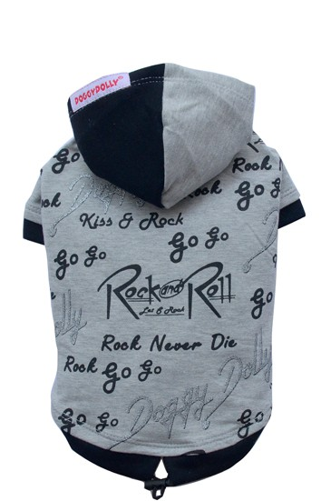 "DoggyDolly® Hunde-Sweatshirt ""Rock and Roll"" (grau)"