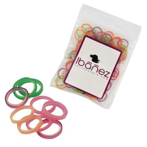 Ibanez® Latex Haarbänder bunt gemischt (100 Stk.)