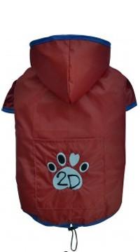 """DoggyDolly® Hunderegenjacke """"2D"""" (rot)"""