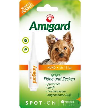 Amigard® Spot-On Pipette gegen Flöhe und Zecken für kleine Hunde bis 15 kg