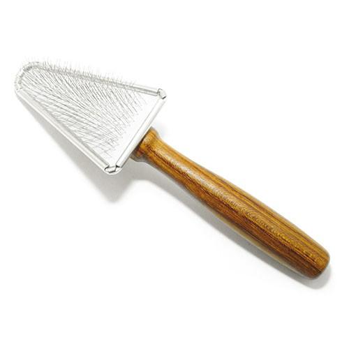 Vivog® Dreieckige Zupfbürste mit Holzgriff