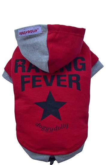 "DoggyDolly® Hunde-Sweatshirt ""Racing Fever"" (rot)"