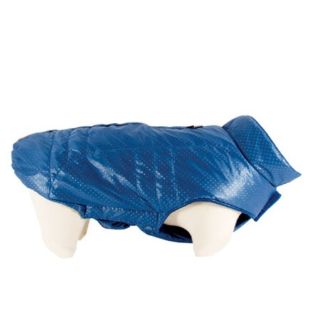 """Doogy!® Hundejacke """"Snow"""" (blau mit weißen Punkten)"""