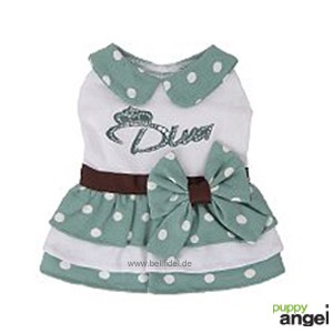 "Puppy Angel® ""Nautical Dress"" Maritimes Hunde-Kleid (grün)"