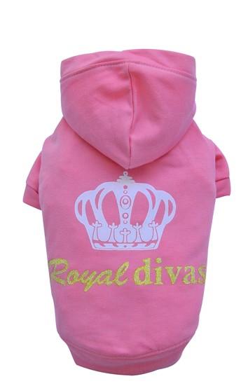 "DoggyDolly® Hunde-Sweatshirt ""Royal Divas"" (pink)"