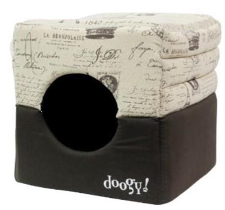 "Doogy!® Hundehöhle ""Frenchie"" - braun-beige"