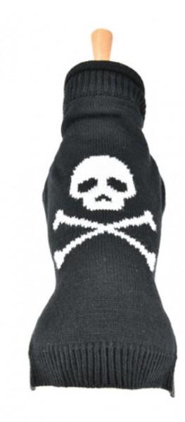 """Doogy!® Hundepullover mit Totenkopf """"Tête de Mort"""" (schwarz)"""