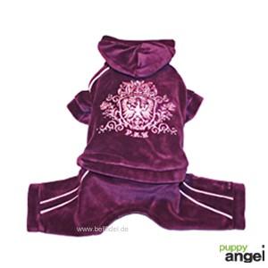 "Puppy Angel® Hunde-Jogging-Anzug ""Royal Paw"" (violett)"