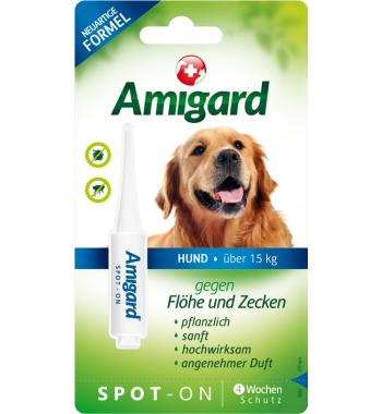 Amigard® Spot-On Pipette gegen Flöhe und Zecken für mittelgroße Hunde von 15 bis 30 kg