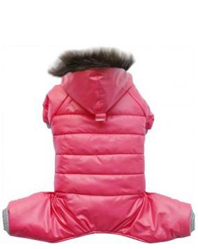 Doggydolly® Hundeschneeanzug mit Kapuze (pink)