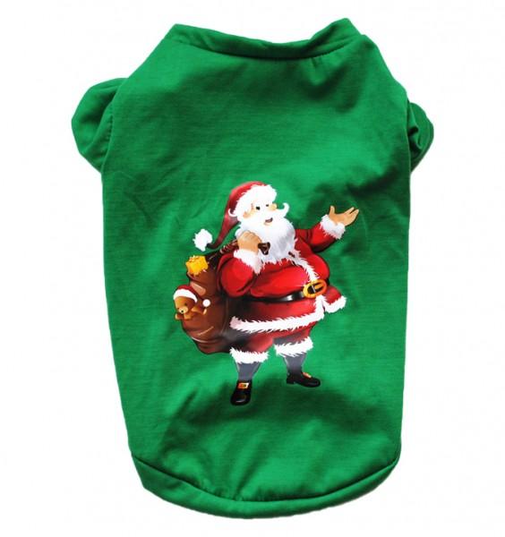 """Weihnachtliches Hunde-T-Shirt """"Santa Claus"""""""
