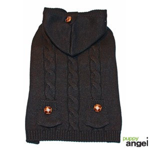 "Puppy Angel® Hundepullover ""Cables and Curls"" (schwarz)"