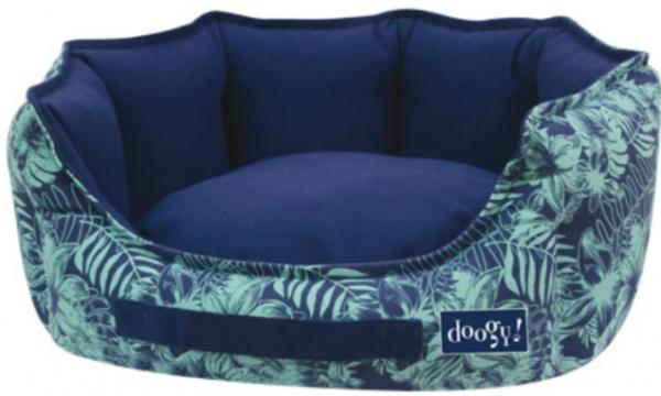 "Doogy!® Hundebett ""Jungle"" - blau"