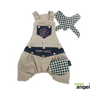 """Puppy Angel® """"Tomboy Stripy"""" Hundeoverall (beige)"""