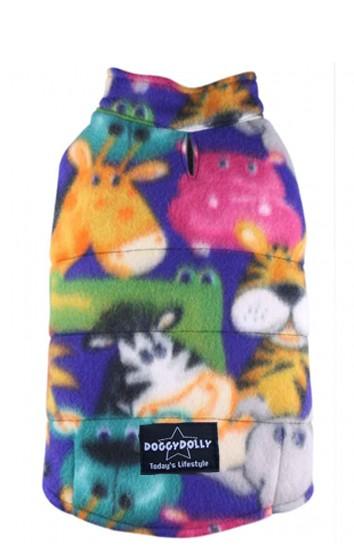 DoggyDolly® Hundeweste aus Fleece (mit mehrfarbigem Muster)