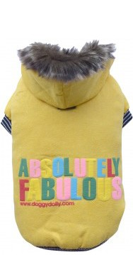 "DoggyDolly® Hundejacke ""Absolutely fabulous"" (gelb)"