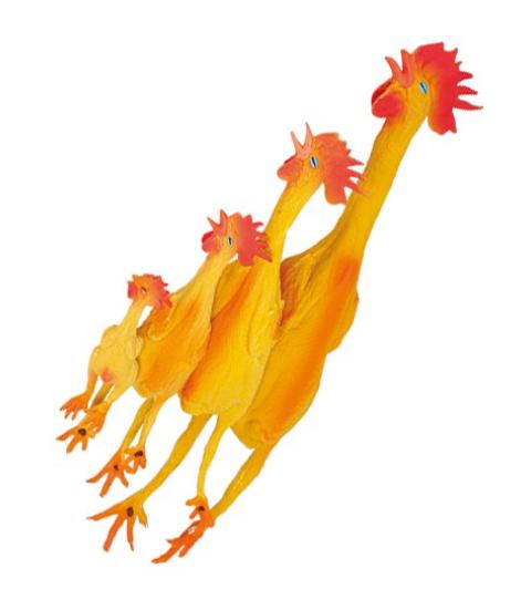 """Chadog® Hundespielzeug """"krähendes Huhn"""" / orange"""