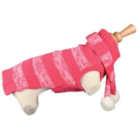 """Doogy!® Hundepullover mit Schal """"Fantaisie"""" (pink)"""