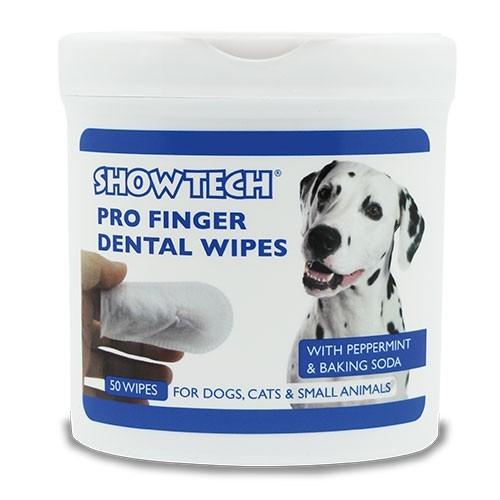 ShowTech® Zahnreinigungs-Fingerlinge für Hundezähne (Dose mit 50 Stück)