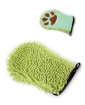 Vivog® Doppelseitiger Mikrofaser Hundepflegehandschuh