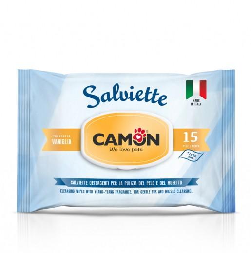 Camon® Feuchttücher für Hundefell mit Vanilleduft