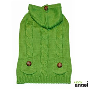 """Puppy Angel® Hundepullover """"Cables and Curls"""" (grün)"""