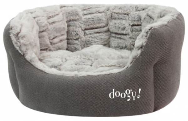 "Doogy!® Hundebett ""Whooly"" - taupe"