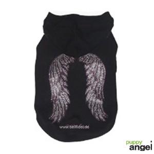"""Puppy Angel® Hundesweatshirt """"Wings Hoodie"""" (schwarz)"""