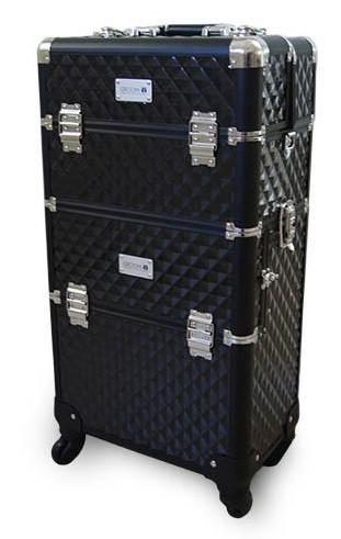 Groom-X® Zweiteiliger Groomer-Koffer auf Rollen mit Teleskopgriff