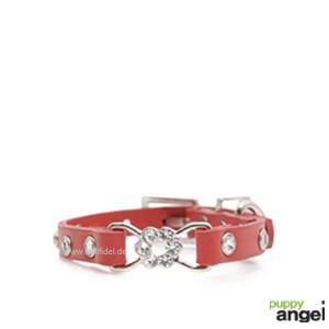 "Puppy Angel® ""Rose Pendant"" Hundehalsband (rot)"