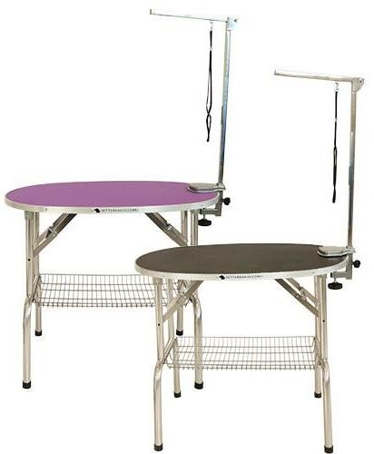 Ibanez® Ovaler klappbarer Trimmtisch (Tischplatte 90 x 60 cm)