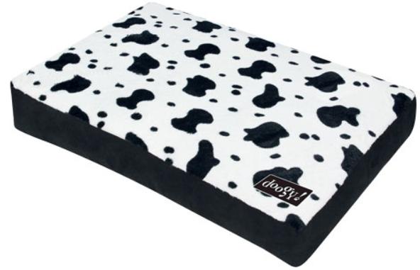 "Doogy!® Quadratische Hundematratze ""Cow"" - schwarz-weiß"