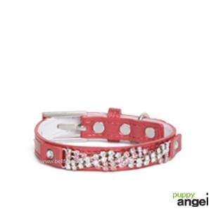 """Puppy Angel® """"Wavy Crystal"""" Hundehalsband (rot)"""