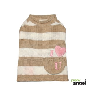 "Puppy Angel® Hundepullover ""Love in my Pocket"" (beige)"