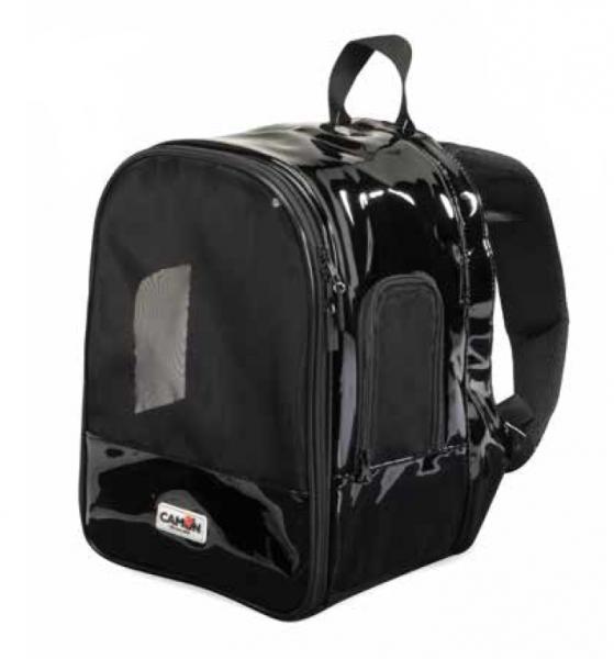 CAMON® atmungsaktiver Hunderucksack - schwarz