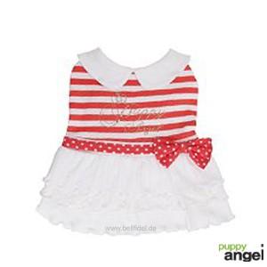 "Puppy Angel® ""Nautical Party Dress"" Maritimes Hundekleid (rot)"
