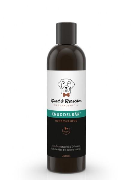 """Hund & Herrchen Hundeshampoo """"Knuddelbär"""" für braunes und schwarzes Fell"""