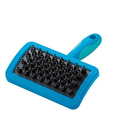 Vivog® Welpenbürste / Gummibürste mit schwankbarem Kopf und Massage-Noppen