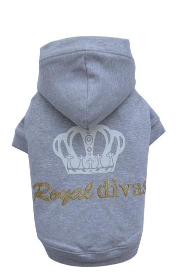 "DoggyDolly® Hunde-Sweatshirt ""Royal Divas"" (grau)"