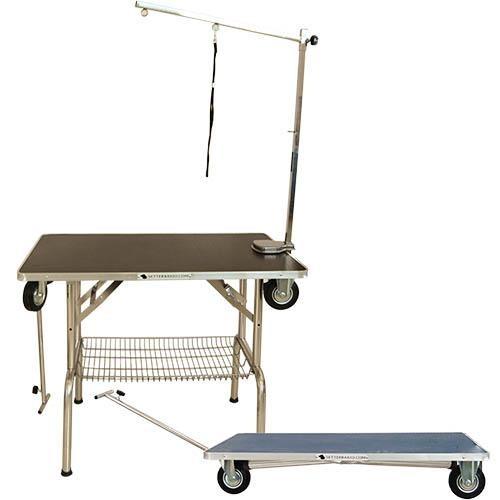 Ibanez® Mobiler Trimmtisch / Ausstellungstisch mit Rädern (Tischplatte 95 x 55 cm)