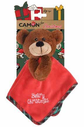 """Camon® Plüsch-Hundespielzeug """"Teddybär"""" mit Schnuffeltuch und Quietscher"""