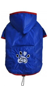 "DoggyDolly® Hunderegenjacke ""2D"" (blau)"