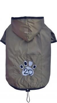 """DoggyDolly® Hunderegenjacke """"2D"""" (beige)"""