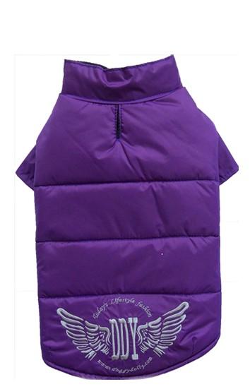 DoggyDolly® Hunde-Steppjacke mit Flügelmotiv (violett)